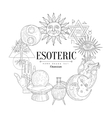 Esoteric Collection Vintage Sketch vector image