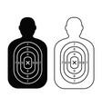 men paper targets vector image