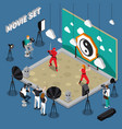 movie set isometric vector image