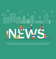 news banner design concept vector image