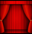 Red Theater Stage vector image