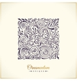 Square calligraphic royal emblem floral vector image