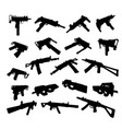 submachine guns vector image