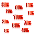 Discount numbers vector image