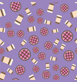 pie and coffee pattern seamless flat food vector image