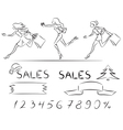 Set sales and shopping vector image