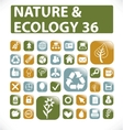 36 nature  ecology buttons vector image vector image