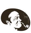 pipe smoker vector image