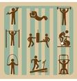 fitness gym design vector image