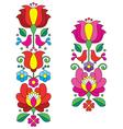 Kalocsai embroidery - Hungarian floral folk art vector image