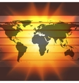 abstract world map on the sunset background vector image