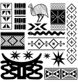 Ancient African pattern vector image