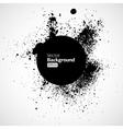 Black grunge ink splat shapes vector image