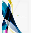 colorful geometric wave abstract background vector image