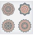 set decorative pattern set of circular vector image