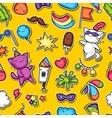 Carnival party kawaii seamless pattern Cute vector image vector image