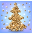 Mechanical Christmas tree vector image vector image