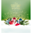 Holiday Christmas background with a gift boxes vector image