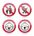 Warning sign no babies no children vector image vector image