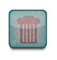 rubbish bin icon vector image