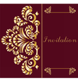 Vintage Invitation card with ornament vector image