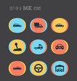auto icons set collection of stick hatchback vector image