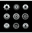 Shiny Metal Gears Set vector image