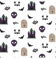 Cartoon spooky halloween seamless pattern vector image