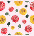 dahlia flower pattern vector image