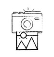 figure digital camera with picture art image vector image