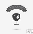 fragile glass symbol logistics icon vector image