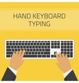 Hand keyboard typing vector image