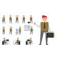 icon of successful businessman vector image