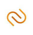 linked curved letter symbol vector image