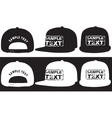 Rap cap front back and side view vector image