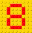 building kit of plastic Font 34 vector image
