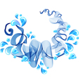 abstract blue water vector image