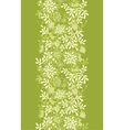 Green underwater plants vertical seamless pattern vector image vector image