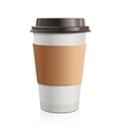Take-out coffee vector image