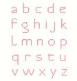 cross stitch alphabet vector image vector image
