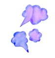 cloud colorful watercolor conversations for vector image