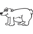 black and white bear vector image vector image