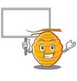 bring board bee hive character cartoon vector image