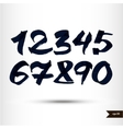 Calligraphic watercolor numbers vector image