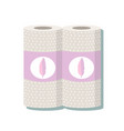 cartoon kitchen paper towel vector image