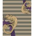 Chameleon card vector image