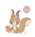 cute summer squirrel vector image