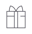 gift box line icon sign on vector image