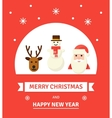 Greeting Christmas Card New Year characters - vector image