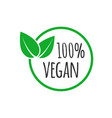organic vegan design template raw healthy food vector image